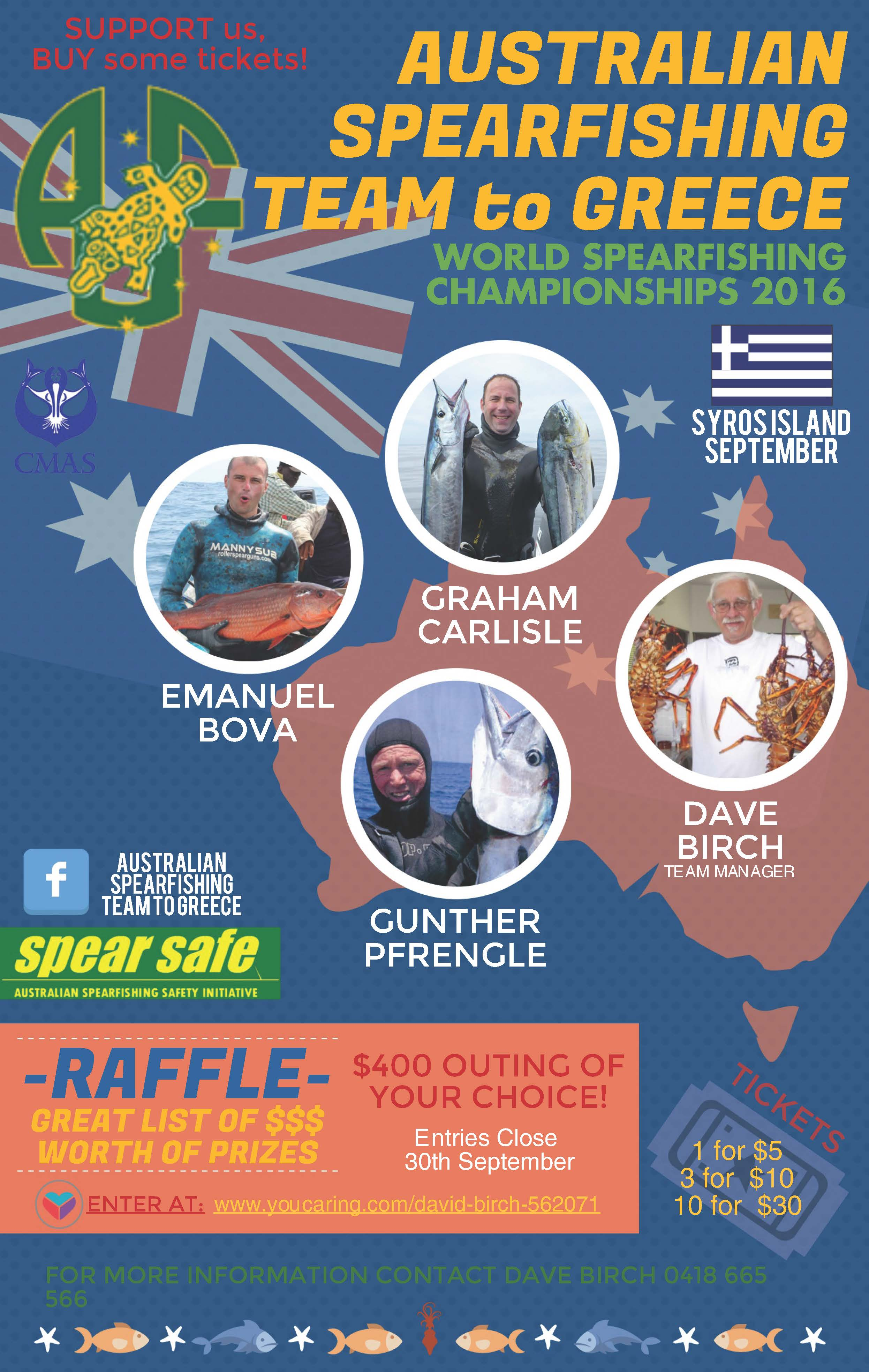 n spearfishing team fundraising geelong divers inc aussie team to raffle poster v3 copy